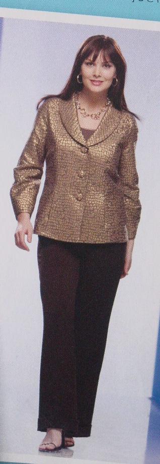 Pattern 2899 Plus Size Jacket with Collar 18W - 24W