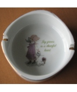 Holly Hobbie Ashtray Porcelain Made Japan Joy Grows in a Cheerful Heart - $14.93