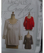 Pattern M5670 Women's Thigh Length Top sz 12-20 - $5.00