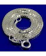 16 inch 1.2mm Italian Venetian Box Chain Solid 925 Sterling Silver - $16.00