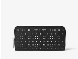 MICHAEL KORS Jet Set Travel Perforated-Leather Continental Wallet NWT - $89.00