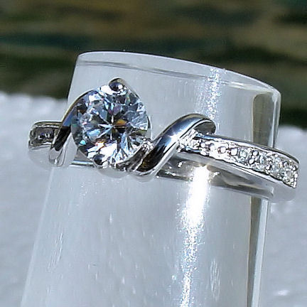 .7cts Russian Ice on Fire CZ Promise Commitment Ring 925 Sterling Silver sz 7