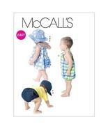 McCall's Patterns M6309 Infants' Dress, Panties, Romper, Diaper Cover an... - $14.00