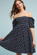 NWT ANTHROPOLOGIE NAVY EYELET BABYDOLL DRESS by MAEVE 6 - $59.49