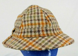 Donegal Tweed Handwoven Brown Wool Irish Walking Hat Sz M  - $28.99