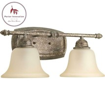 Spirit Collection 2-Light Pebbles Bathroom Vanity Light With Glass Shades - $64.20