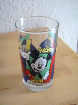 Disney Mickey, Minnie & Donald Short Glass Tumbler  - $13.00