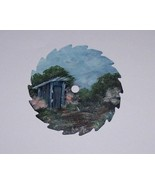 Collectible Mini Round Painted Sawblade Spring Outhouse Custom Order - $12.50