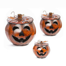 Darice Halloween Metal Jack-O-Lantern Set: Orange w - $149.99