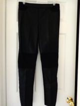 Calvin Klein Stretch Black Ladies Faux Leather Jeans Size 8 (#2985)  - $22.99
