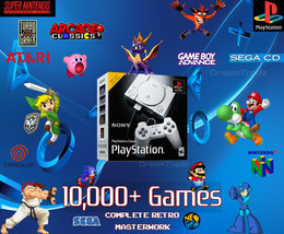 PlayStation Classic Retro Gaming System 10000+ Games - 30+ Consoles SNES - $199.00