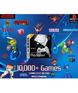 PlayStation Classic Retro Gaming System 10000+ Games - 30+ Consoles SNES - £142.86 GBP