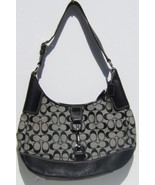 Coach 13069 Hamptons Signature Hobo Handbag Blk & Grey New with Defect - $125.95
