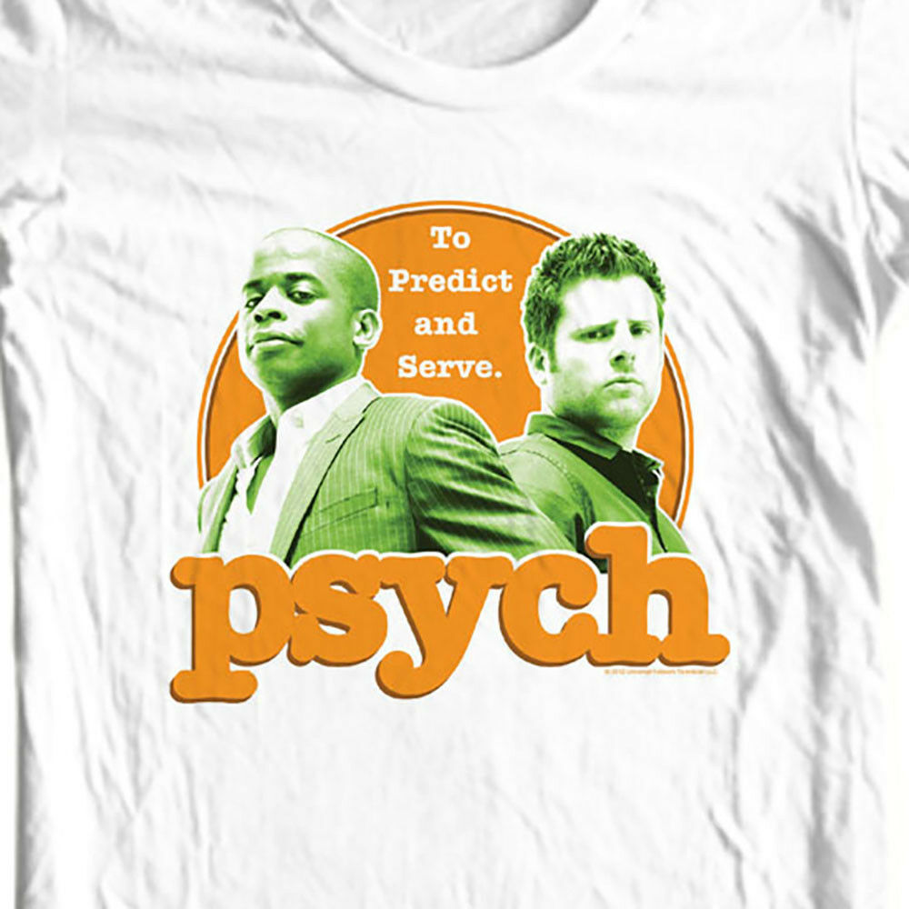 Psych To Predict & ServeT-shirt Shawn and Gus detective TV Show USA NBC696