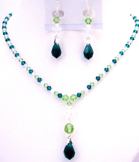 Primary image for Personal Wedding Of Bridal Party Green Combo Fantastic Jewelry Set