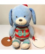 Carter's Blue Dog Plush Baby Toy Teether Sports Baseball Football Rattle... - $18.95