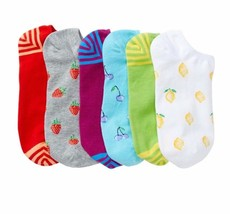 HUE 6-pairs Cotton Liner Socks Fruit Pack  - $7.07