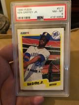 1990 Fleer Ken Griffey Seattle Mariners #513 Baseball Card PSA 8 - $14.70