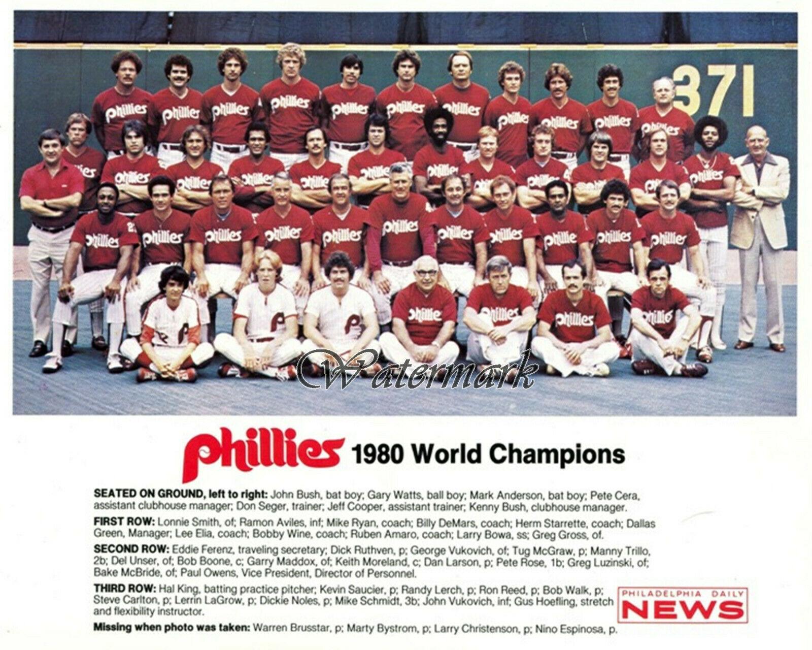 MLB 1980 World Series Champs Philadelphia Phillies Team Picture 8 X 10 Photo Pic - $5.99