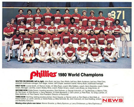 MLB 1980 World Series Champs Philadelphia Phillies Team Picture 8 X 10 Photo Pic - $5.99
