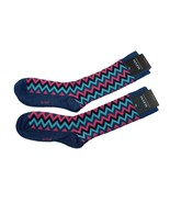 Alfani Men's Socks 2-Pair Value Pack Blue with Multi-Colored Chevrons $1... - $6.38