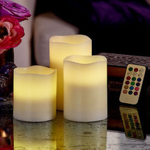 Color-Changing Candles with Remote-Set of 3 - $19.98