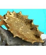 Vintage 22K Weeping Gold Leaf Pottery Candy Dish Dixon Art Studios - $22.95