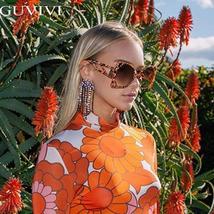 Square Oversized Sunglasses Women  Steampunk Vintage Sunglasses Fashion Retro Su image 4