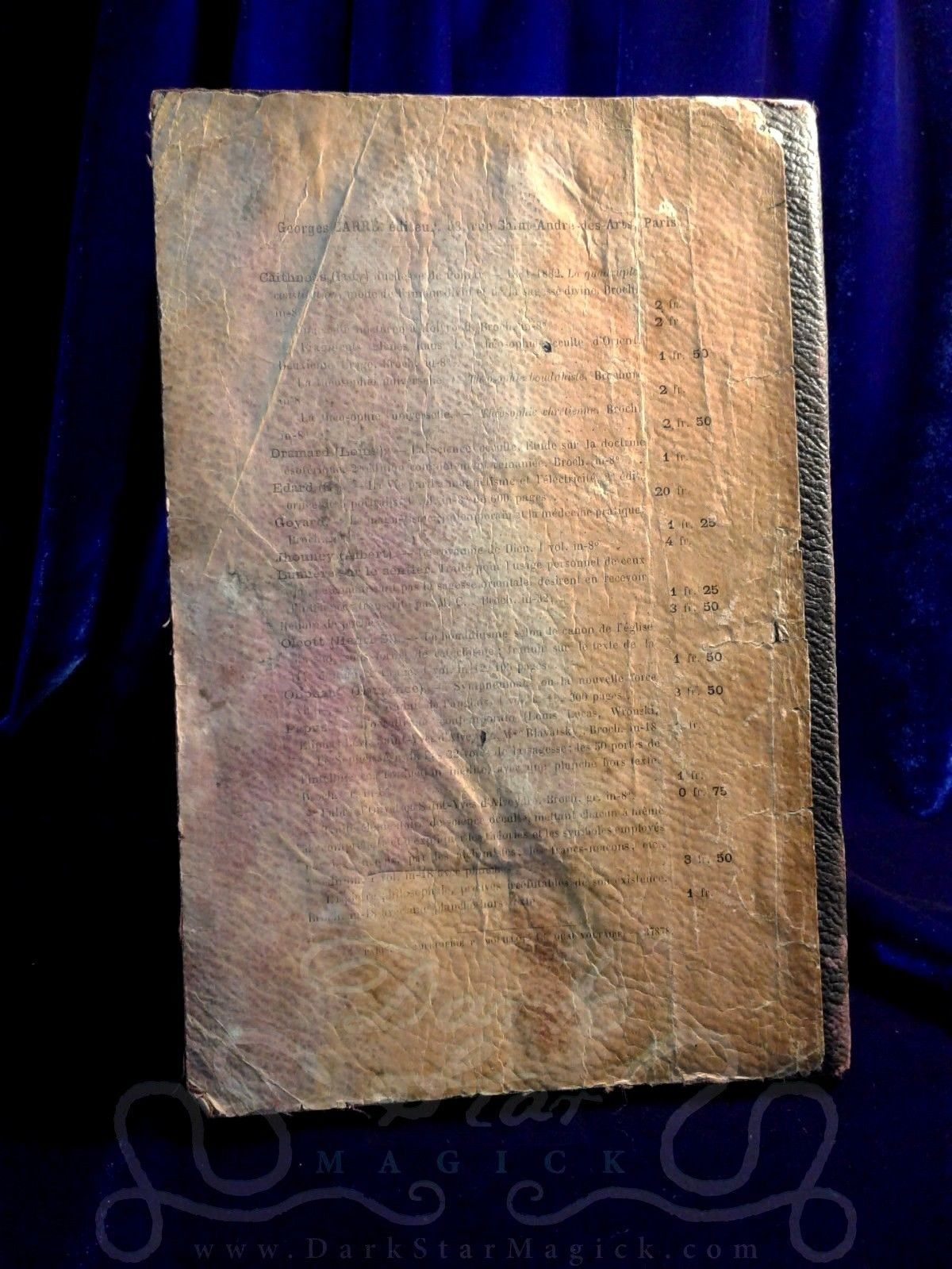 1889 Le Tarot des Bohemiens FIRST EDITION Papus Gerard Encausse VERY RARE occult