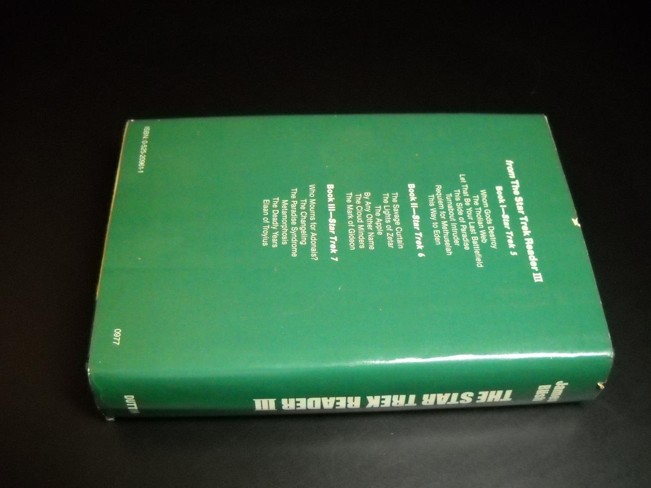 Star Trek Reader III James Blish E P Dutton 1977 First Edition HCDJ Roddenberry