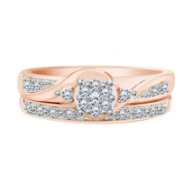 14k Solid Rose Gold 2.30 Ct Round Diamond Bridal Anniversary Ring Set - $355.90