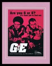 G vs E Good vs Evil 1999 USA Framed 11x14 ORIGINAL Advertisement Clayton... - $32.36