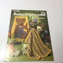 4 Baby Afghan Pattern Books Leisure Arts Knit Crochet - $19.34
