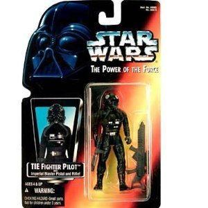 Star Wars POTF TIE Fighter Pilot action figure (red card)