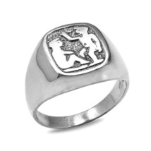 Sterling Silver Gemini Mens Zodiac Sign Ring - £39.42 GBP
