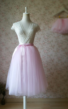 BABY PINK Mother Daughter TUTU Skirt Set Baby Shower Photography Props image 2