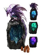 Ebros Purple Azurite Quartz Dragon Climbing On Gemstone Mountain Backflo... - $39.59