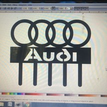 Audi Themed Key hook or Leash Holder wall art-CNC cut for garage or man ... - $14.84