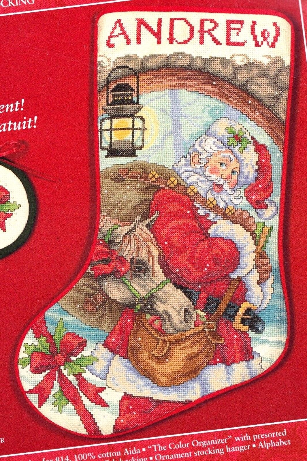 Primary image for Needle Treasures Stable Pickpocket Horse Santa Cross Stitch Stocking Kit 08553