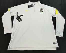 Nuevos Nike Equipo Brasil Hombre Jersey Jersey Dri-Fit Fútbol 893331 Gris XXL - $43.01