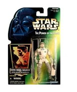 Star Wars POTF Hoth Rebel Soldier action figure (green holo card) - $7.99