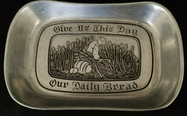 """Wilton Armatale Pewter """"Give Us This Day..."""" Bread Tray, circa 1970s - $12.25"""