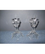 set of 2 glass candlestick holders - $12.00