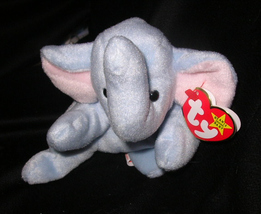 TY BEST OFFER PEANUTS The Elephant TY BEANIE BABY 1995 RETIRED - $9.99