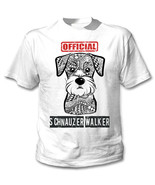 Schnauzer - official walker - NEW COTTON WHITE TSHIRT - $19.53