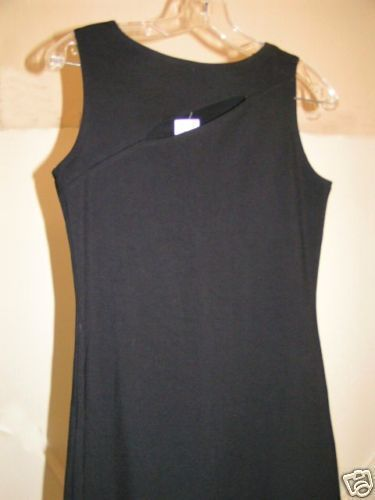 Black vintage slit top Dress Spandex stretch sm.