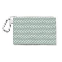Mouse Ears Polka Dots Mint Canvas Zip Pouch - $244,54 MXN+
