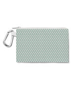Mouse Ears Polka Dots Mint Canvas Zip Pouch - £10.17 GBP+