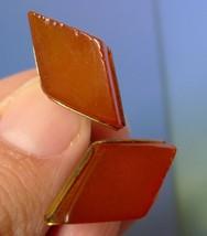k29 Old USSR Kaliningrad jewelry Baltic Amber CUFFLINKS Gold Plated mark... - $30.00