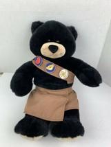 "Build A Bear Black Bear Plush Stuffed Animal 16"" BABW Brownie Sash & Skort - $20.40"